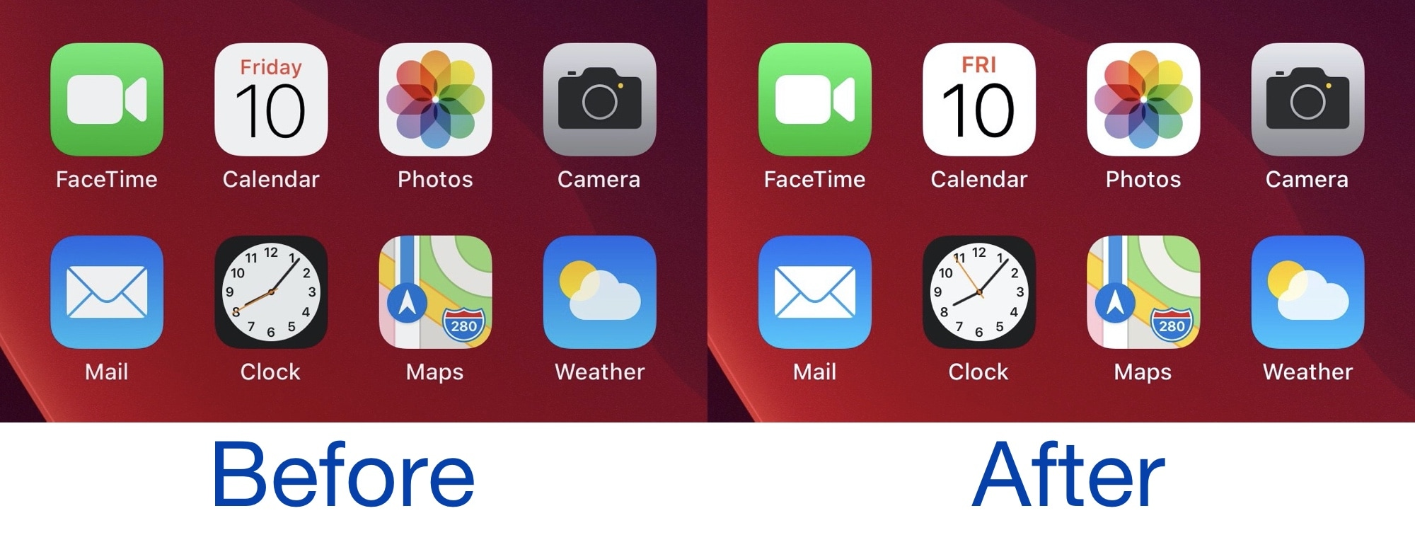 Valentine Brings Ios 14 S Updated Calendar Icon To Jailbroken Devices