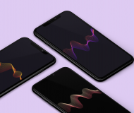 Waveform wallpaper sreeragag7 iDownloadBlog mockup