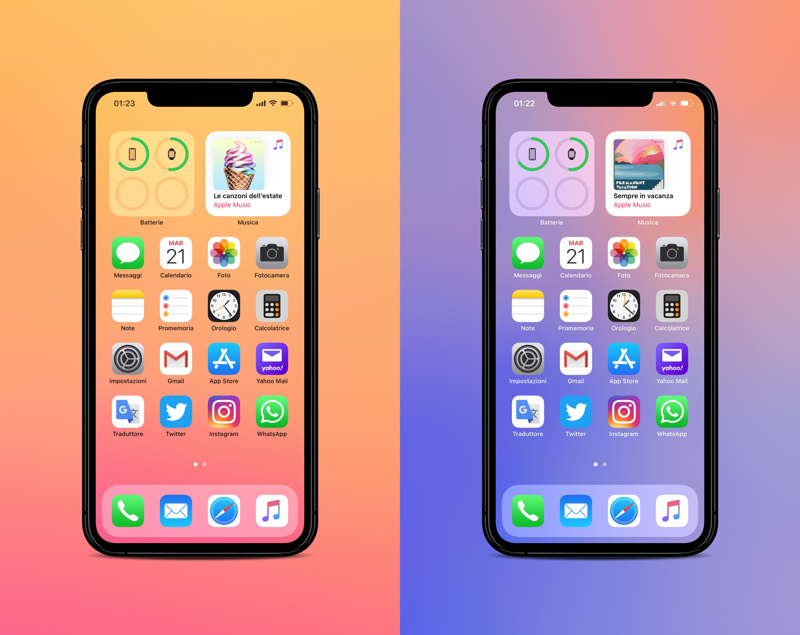 iOS 14 gradient wallpapers iphone idownloadblog ar72014 mockup