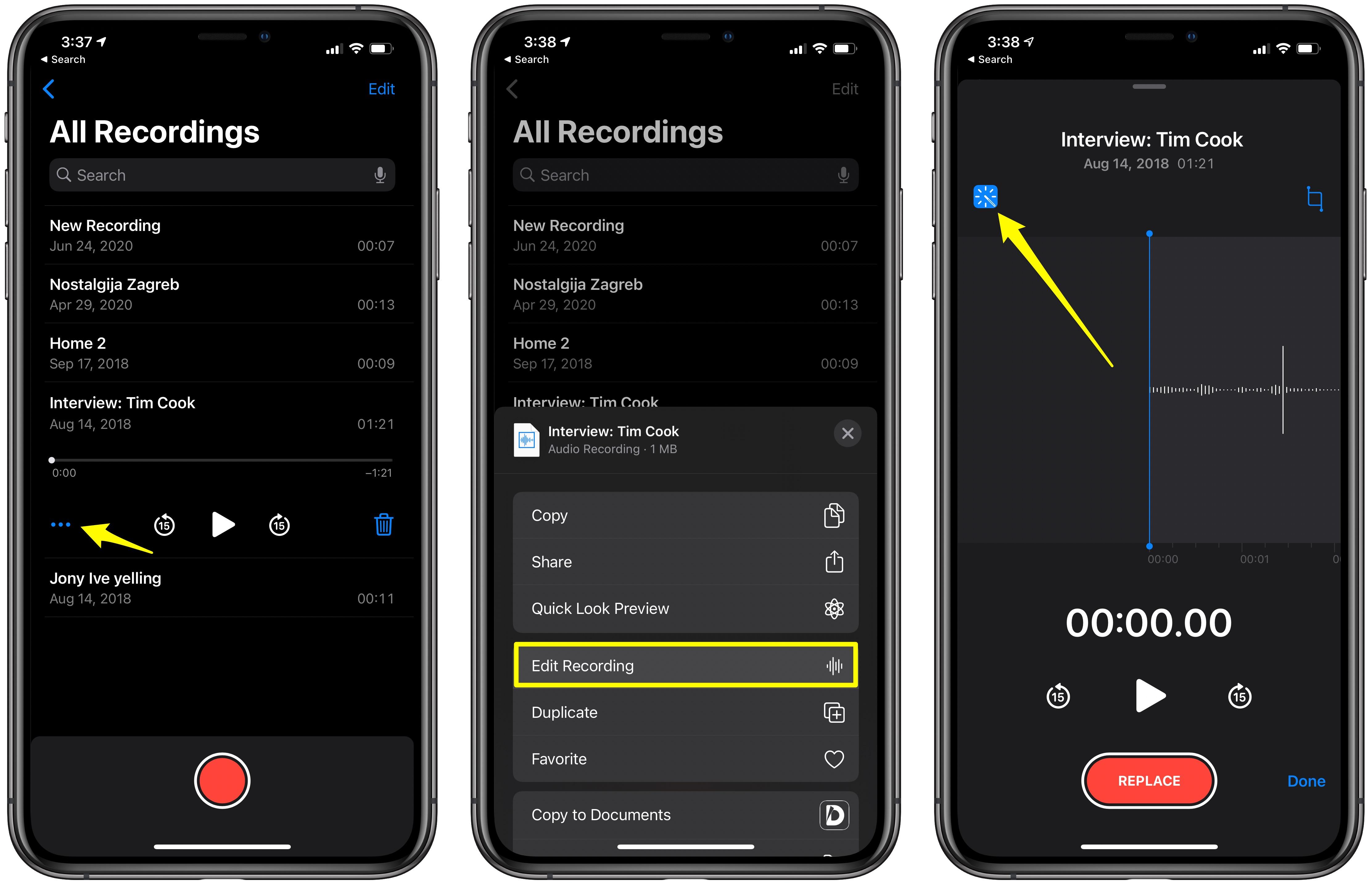 Voice Memos Enhance Recording