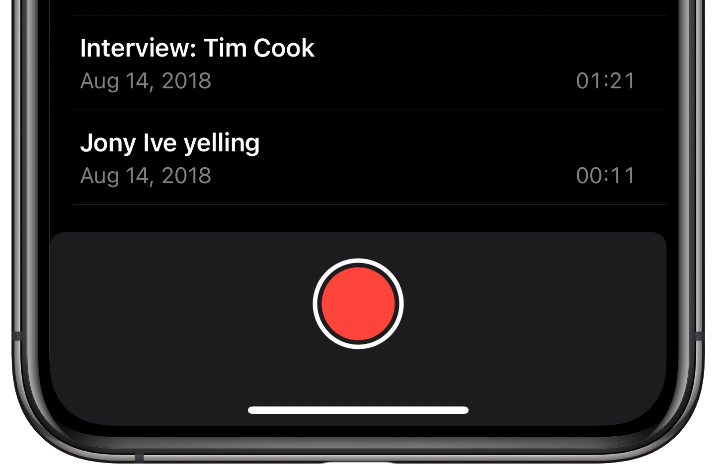 Voice Memos Enhance Recording