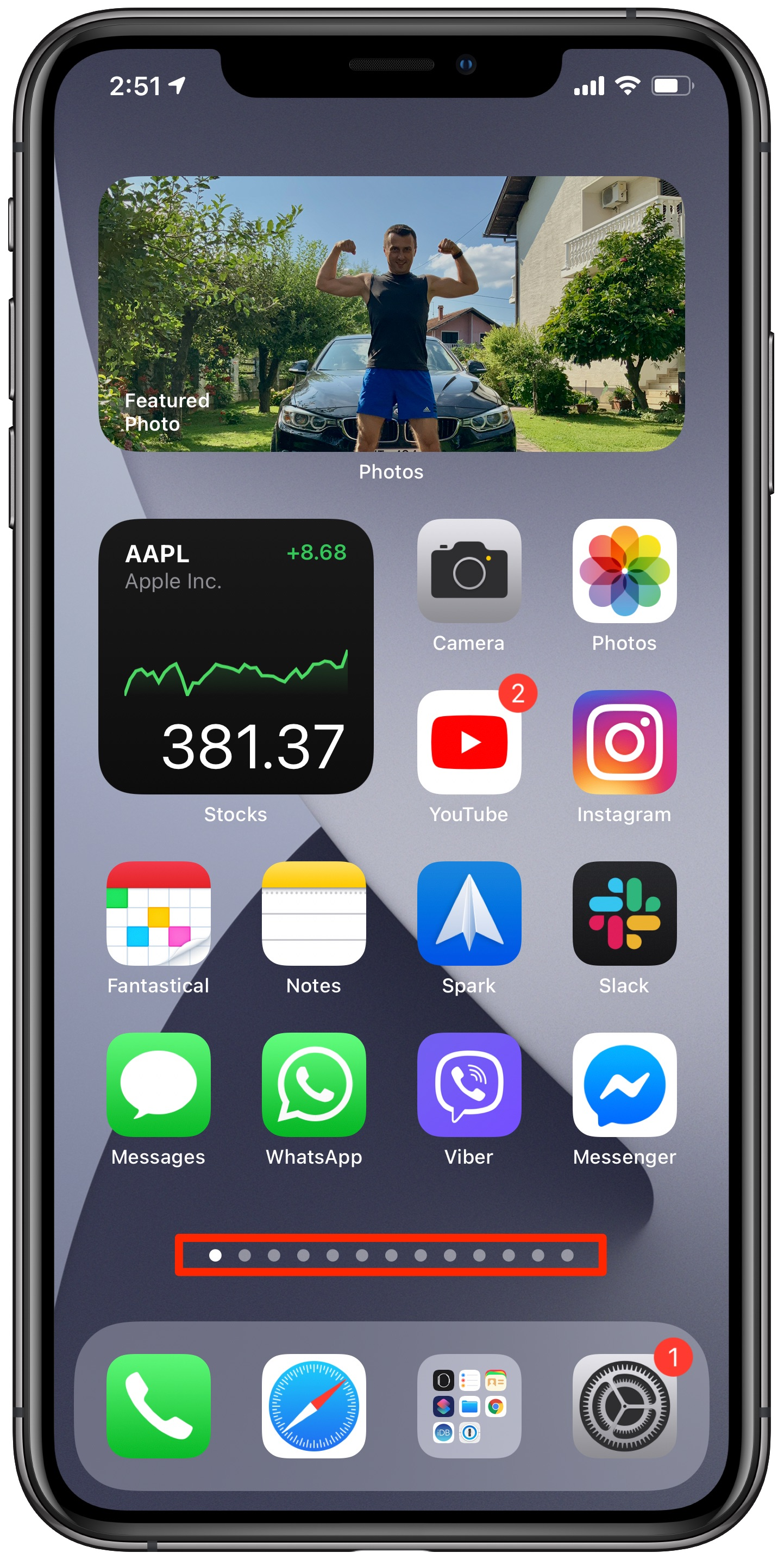 Messy Home screen example