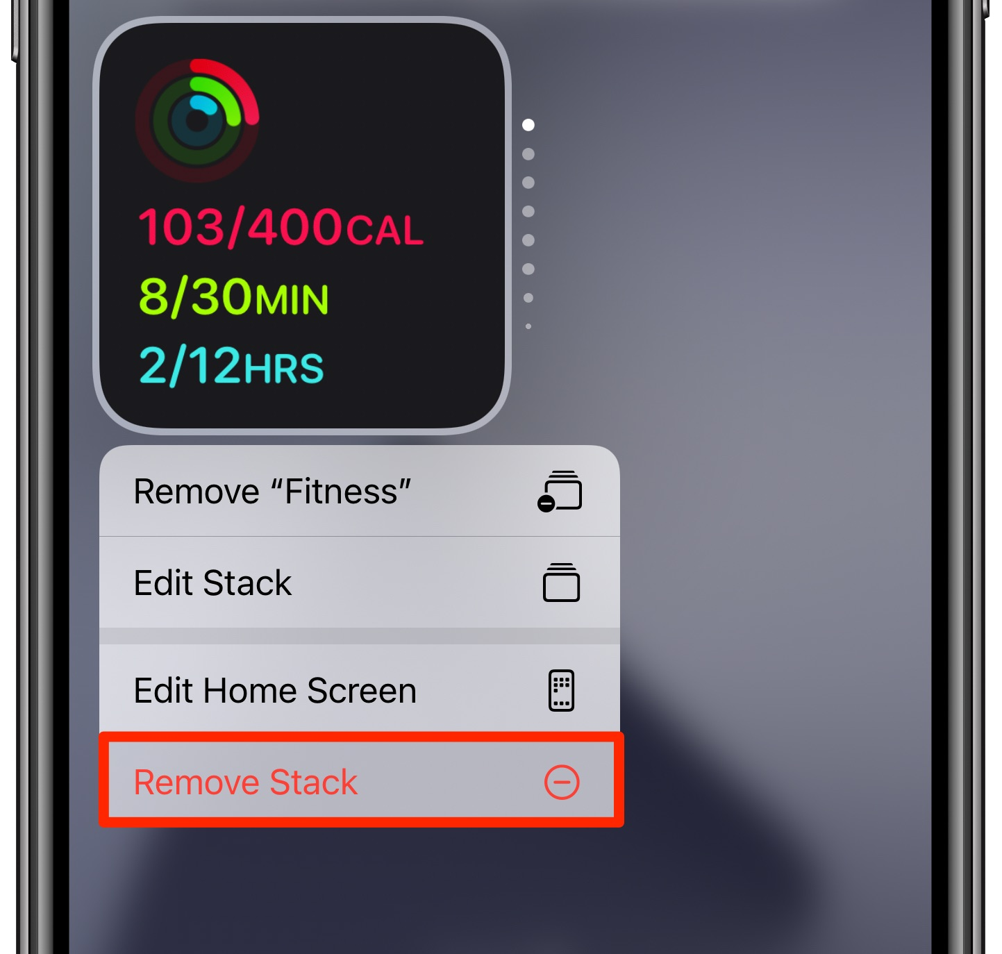 Smart Stack widgets on iPhone - remove the smart stack
