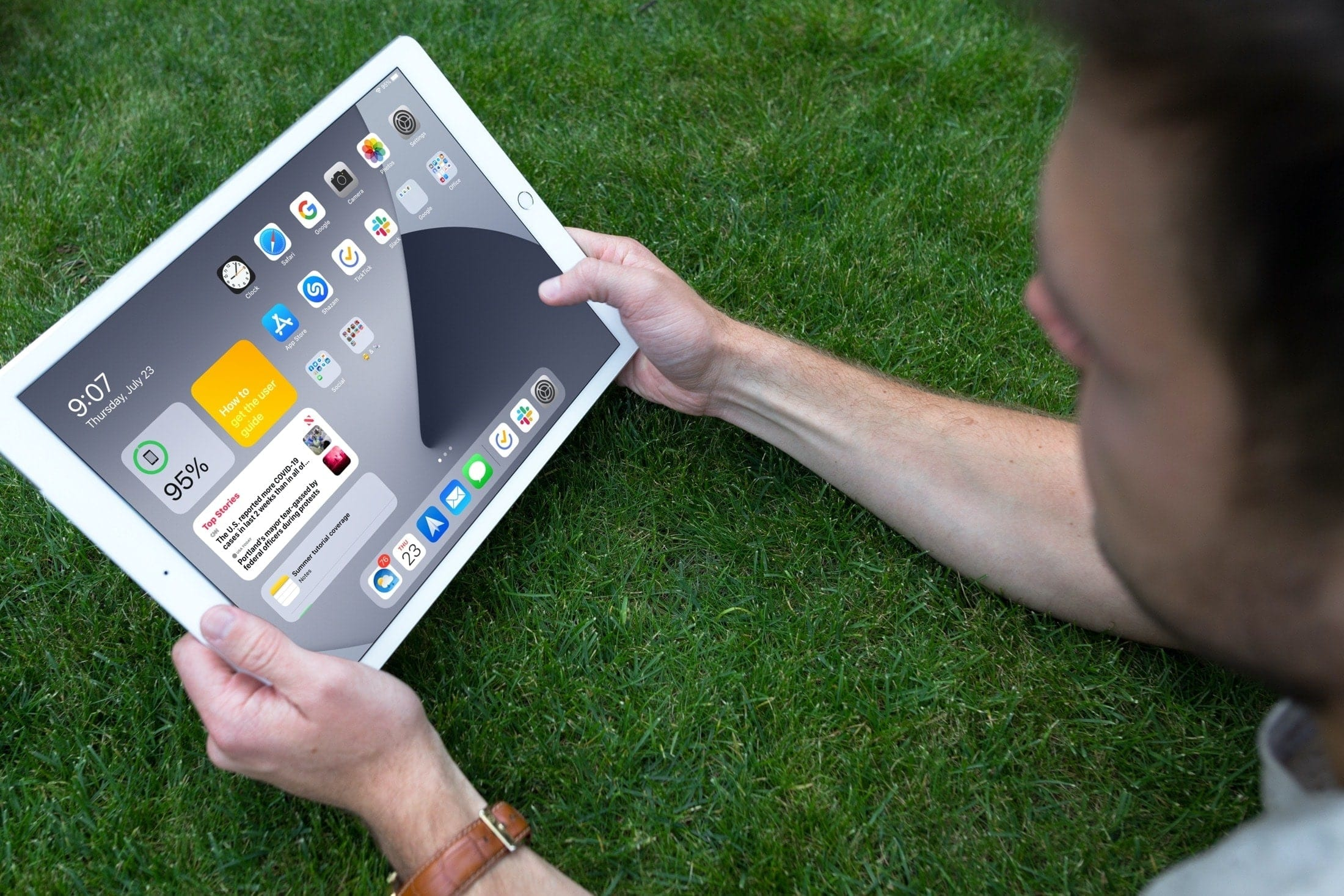 iPad Home Screen Today View Widgets