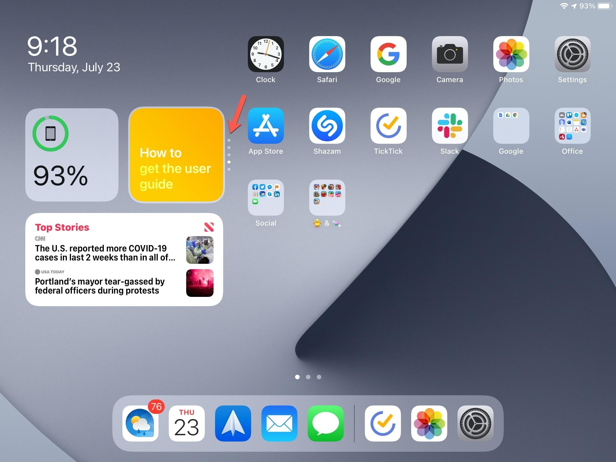iPad Smart Stack Rotate