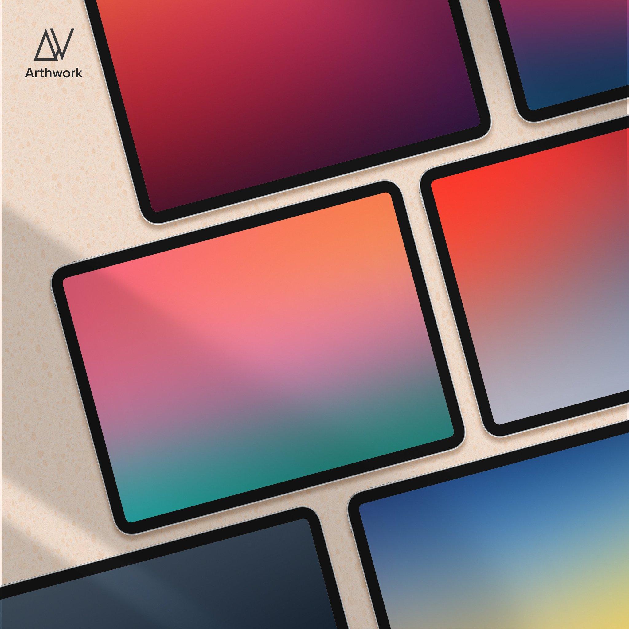 Gradient iPad wallpaper pack