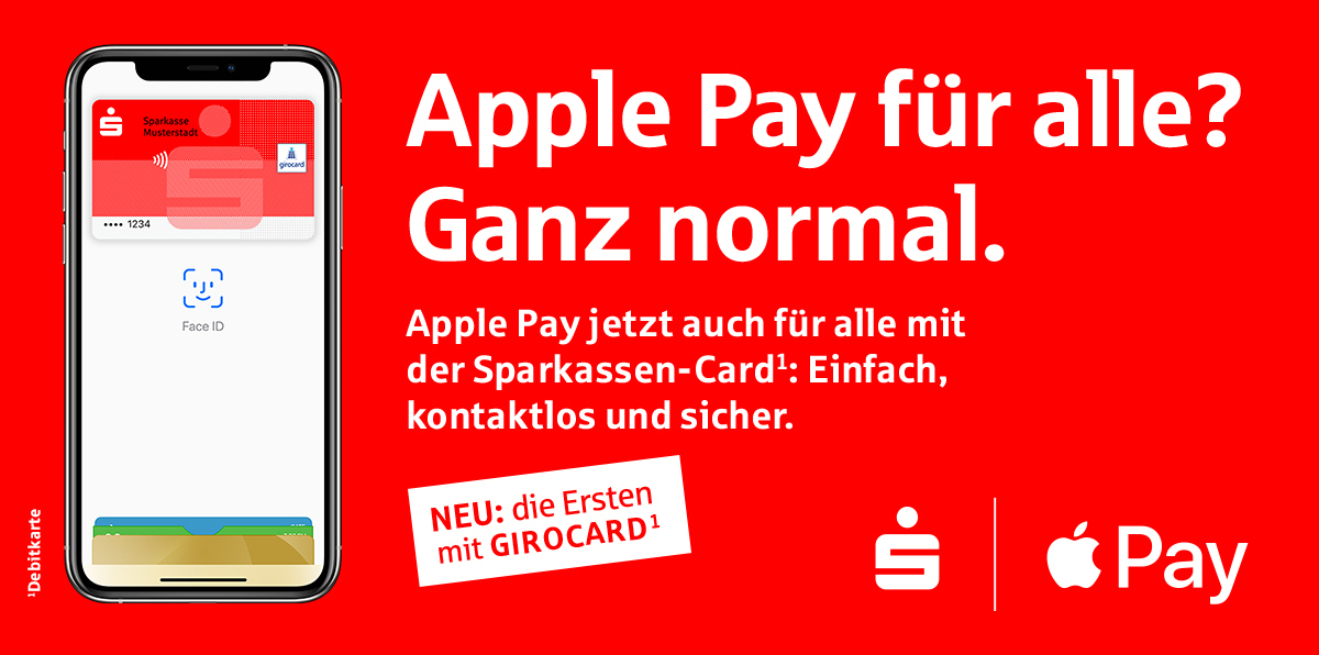 German Bank Sparkasse Brings Apple Pay Support To Its Popular Giro Debit Card