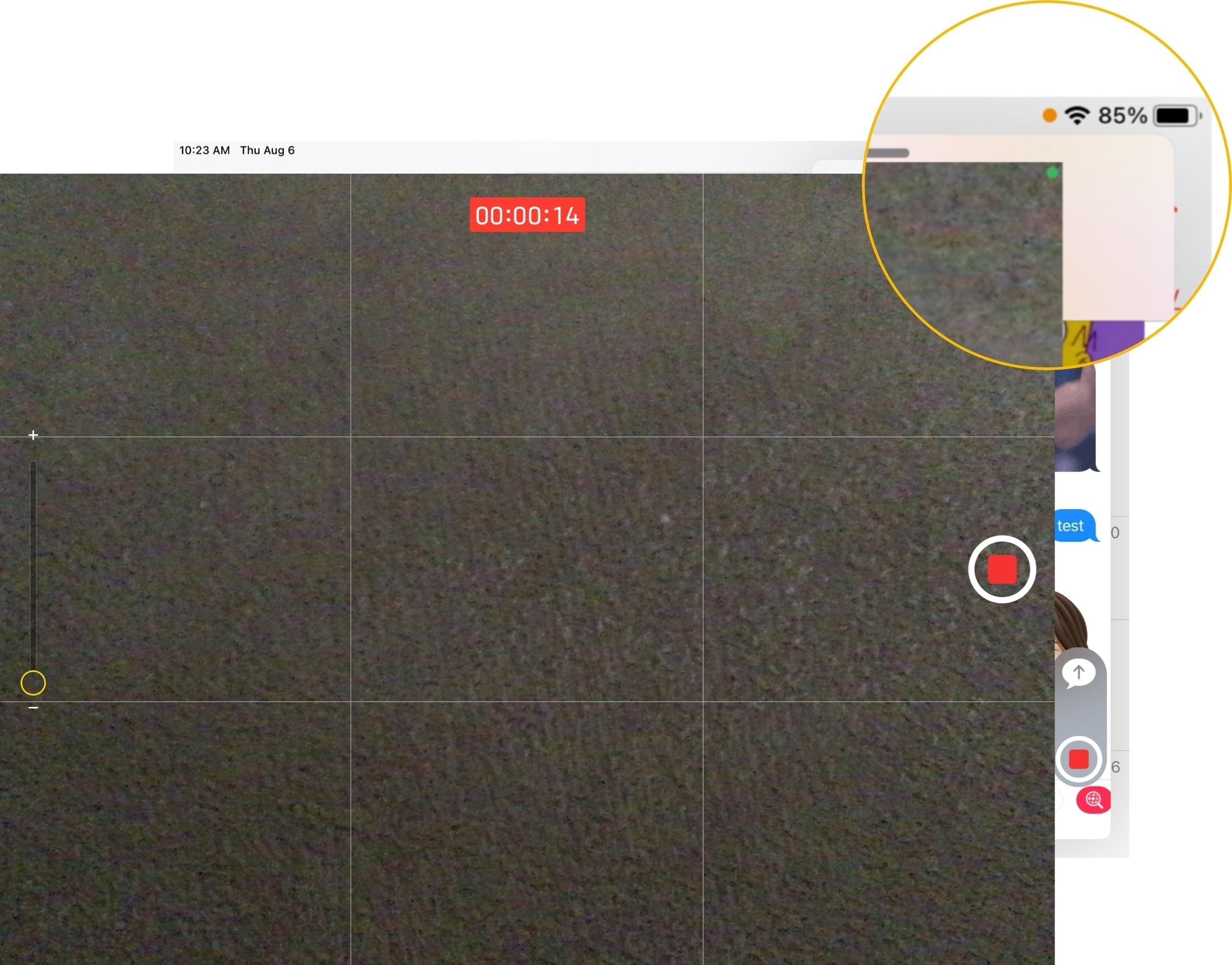 Camera Microphone Recording Indicators on iPad
