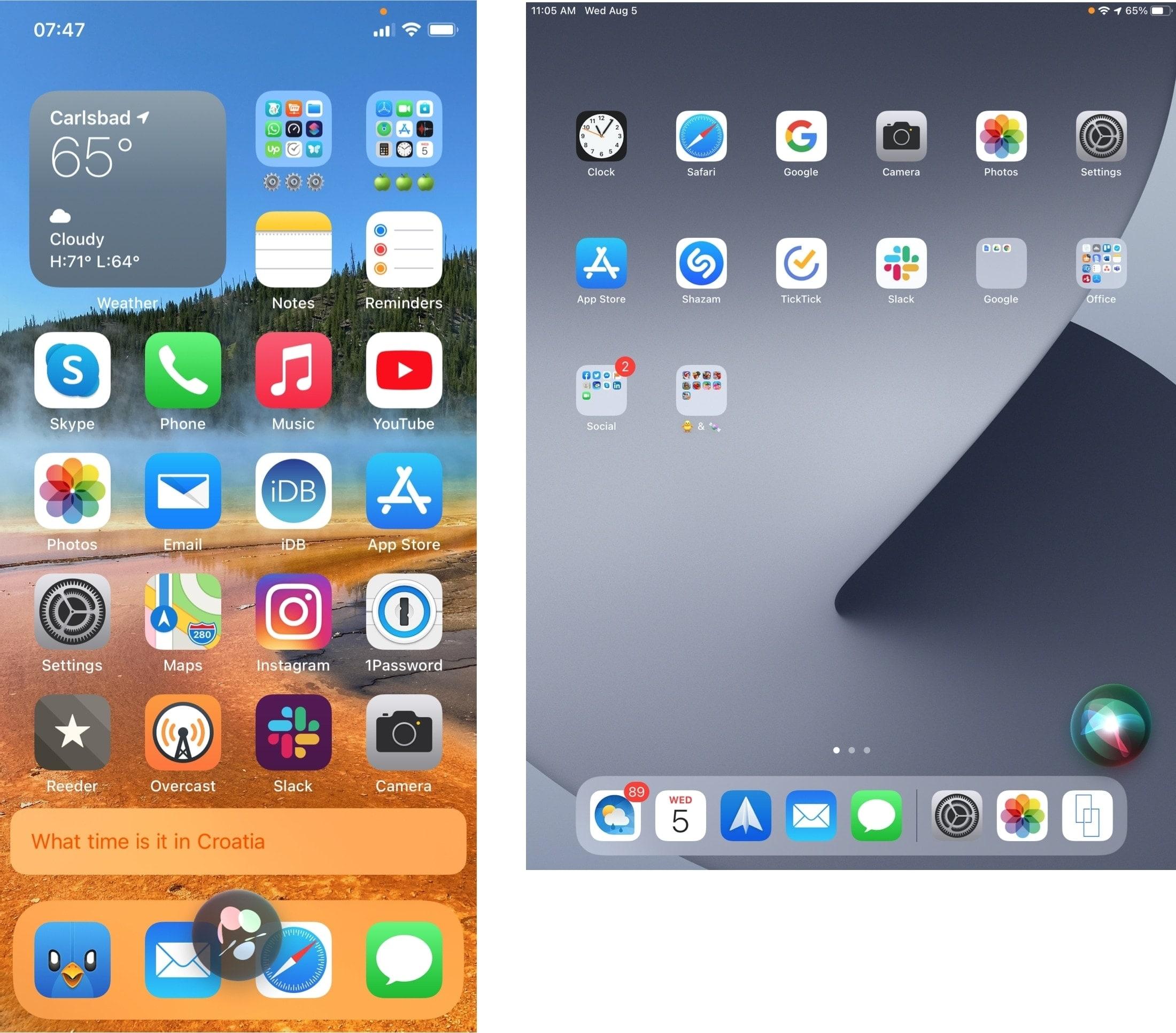 Compact Siri on iPhone and iPad
