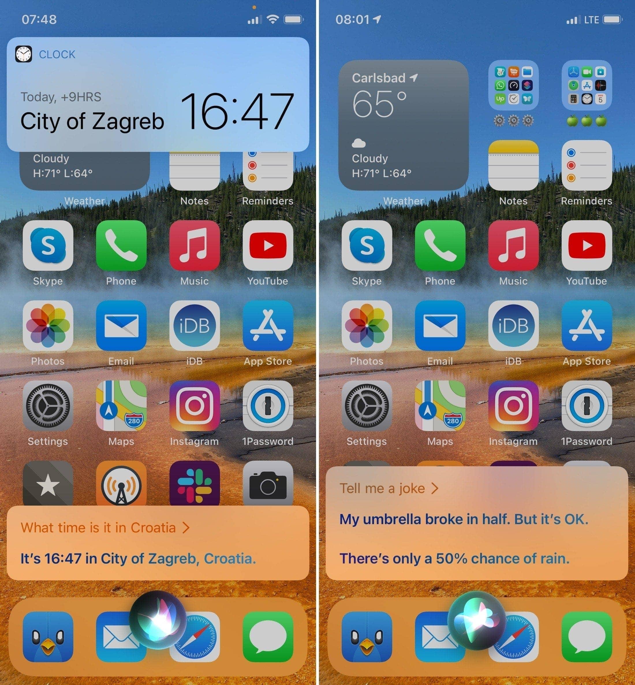 Compact Siri on iPhone