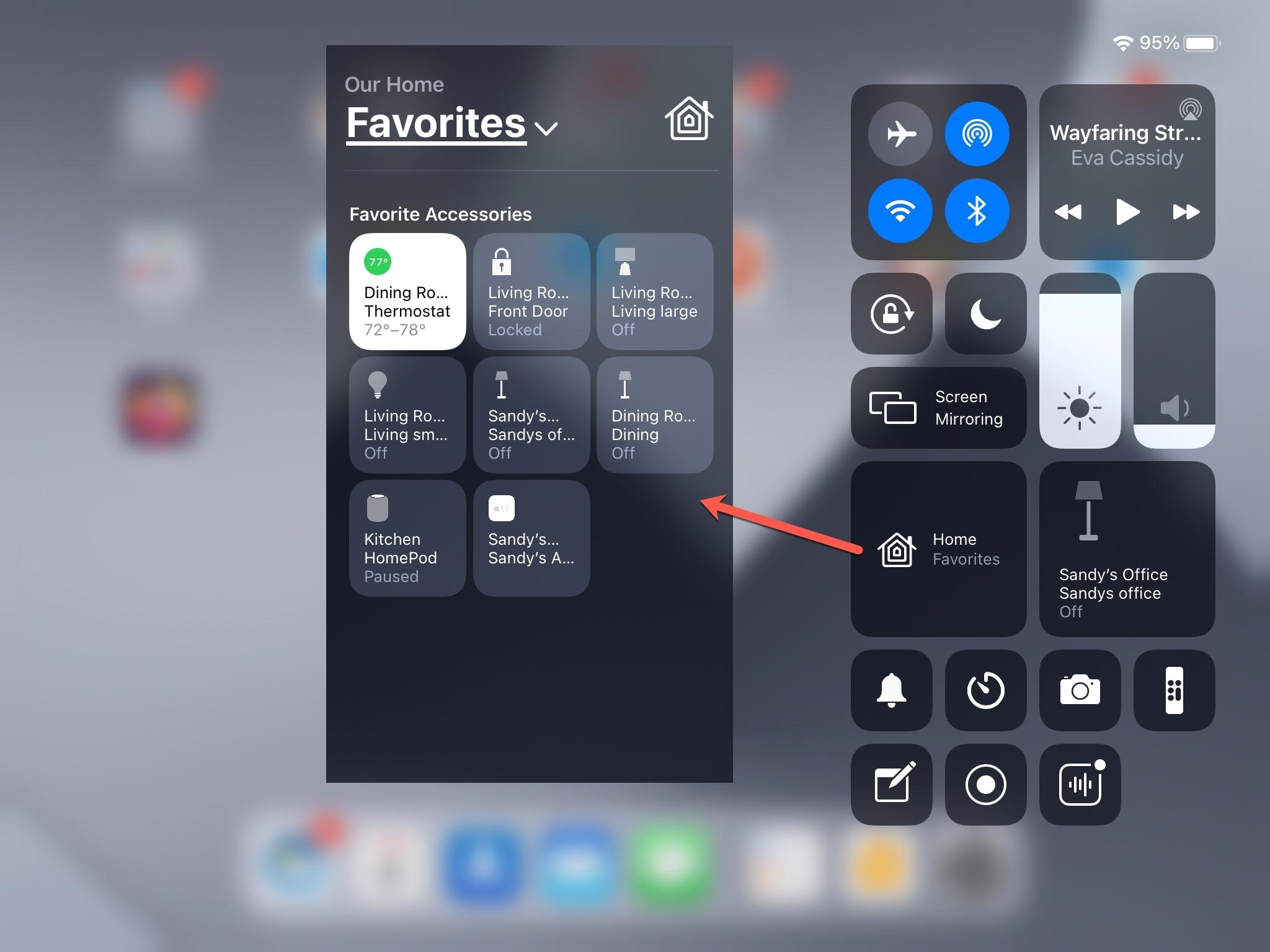 Control Center Home Favorites iPad