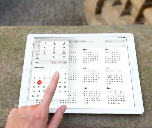 Enhanced Date Time Picker Calendar iPad