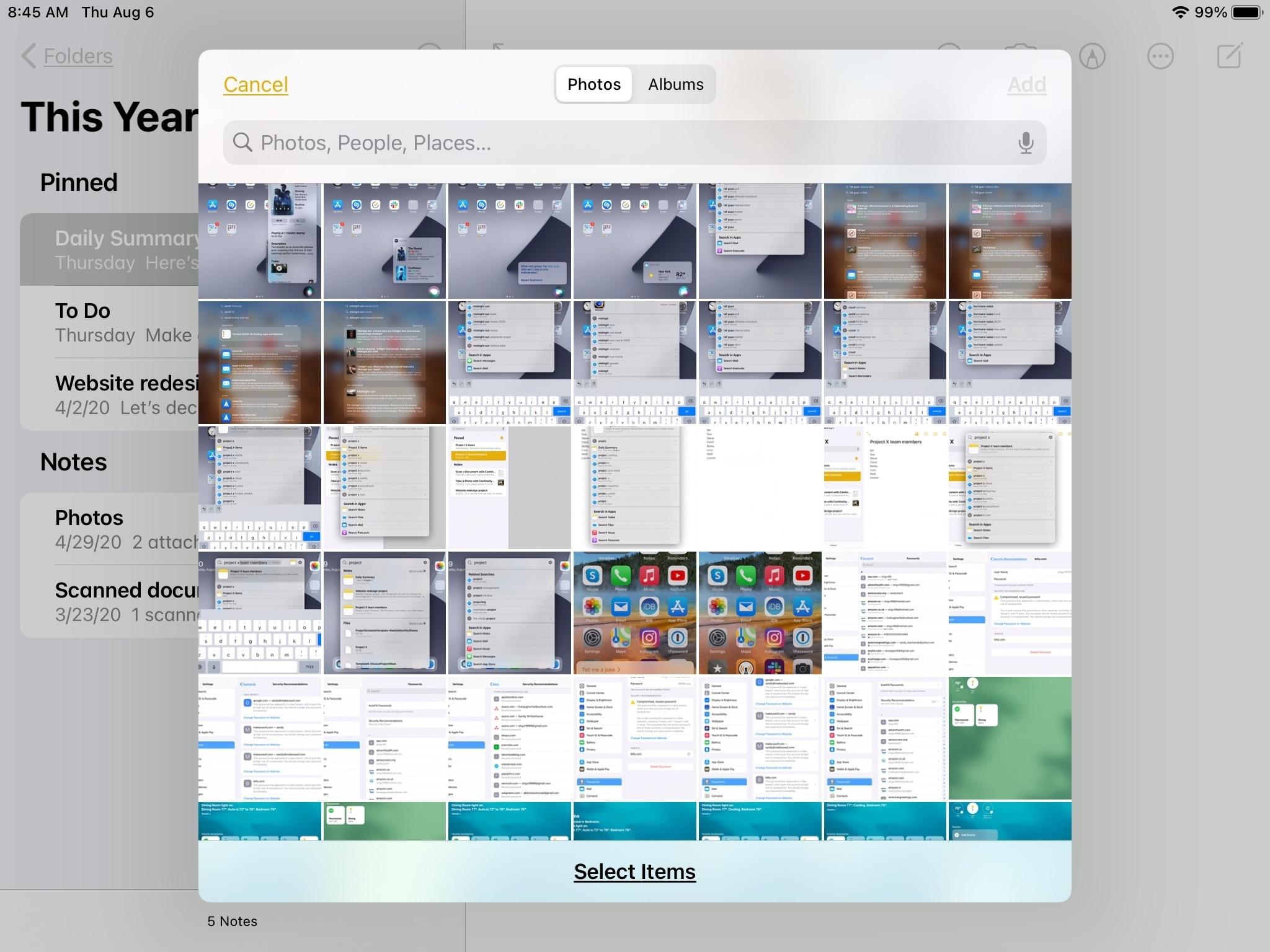 Enhanced Image Picker Notes iPad