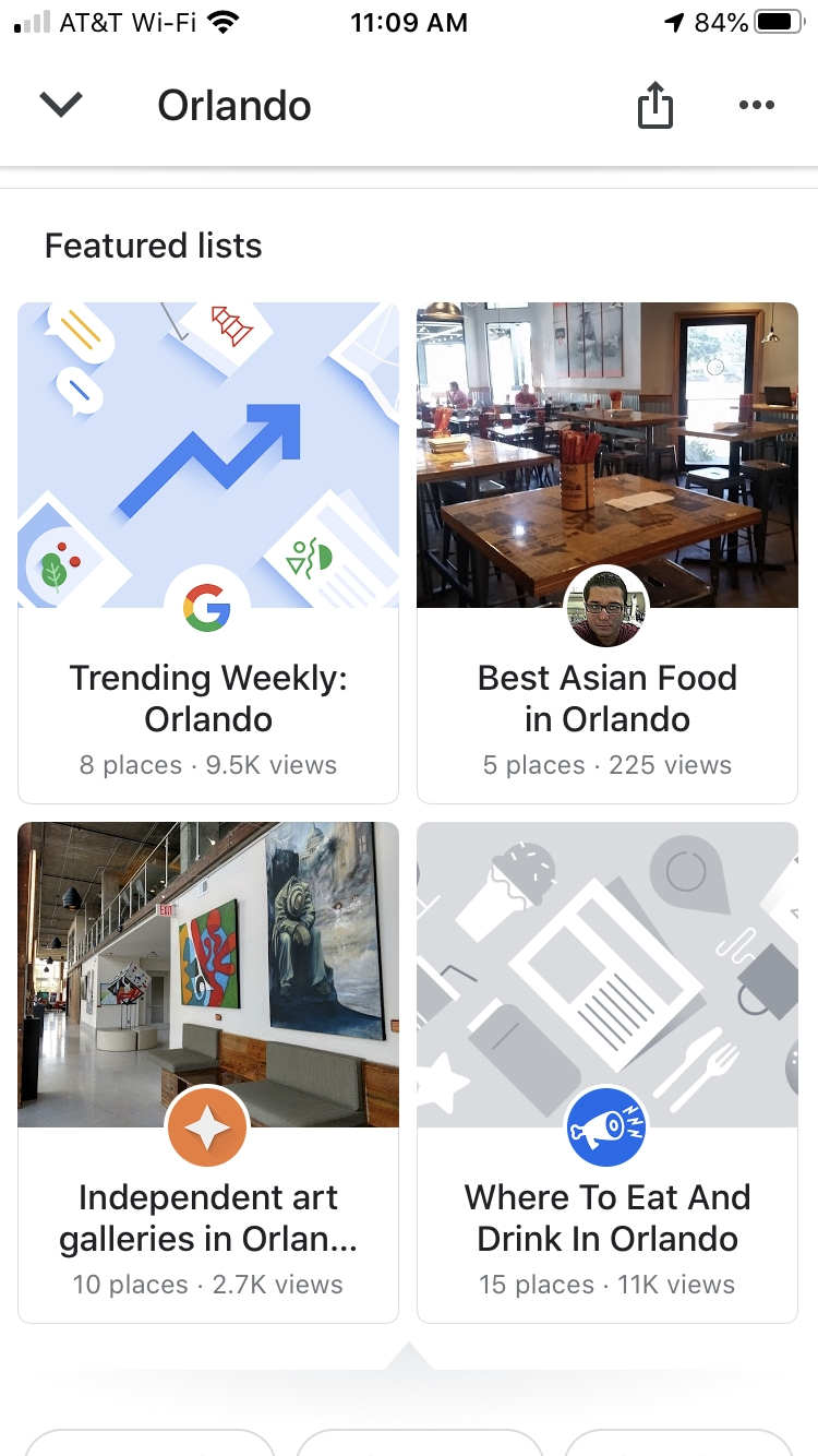 Featured Lists Google Maps