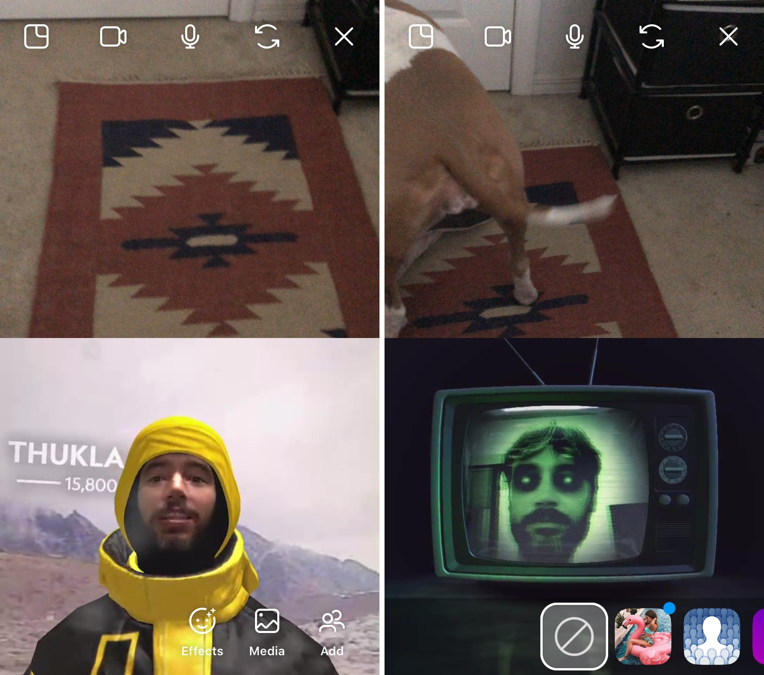 Instagram Group Video Chat Effects