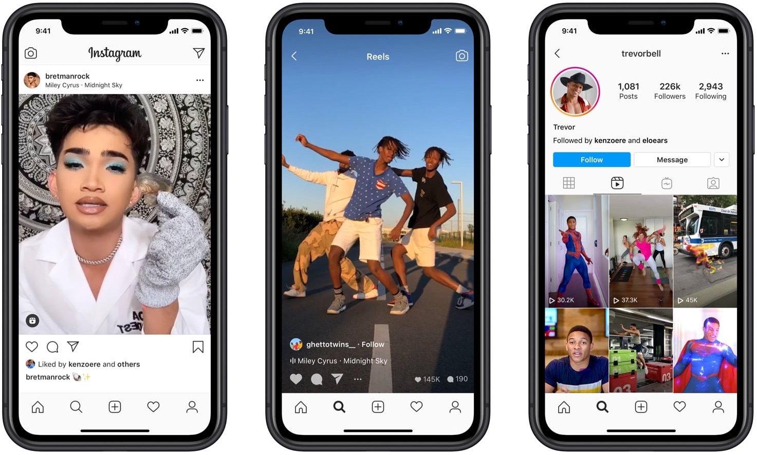An image showing fullscreen Instagram experience with Reels