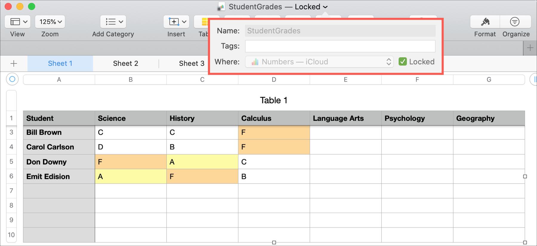 Numbers Mac Lock File