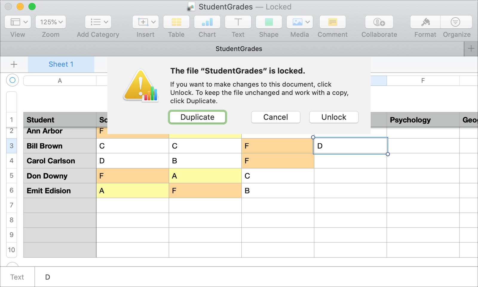 Numbers Mac Locked File