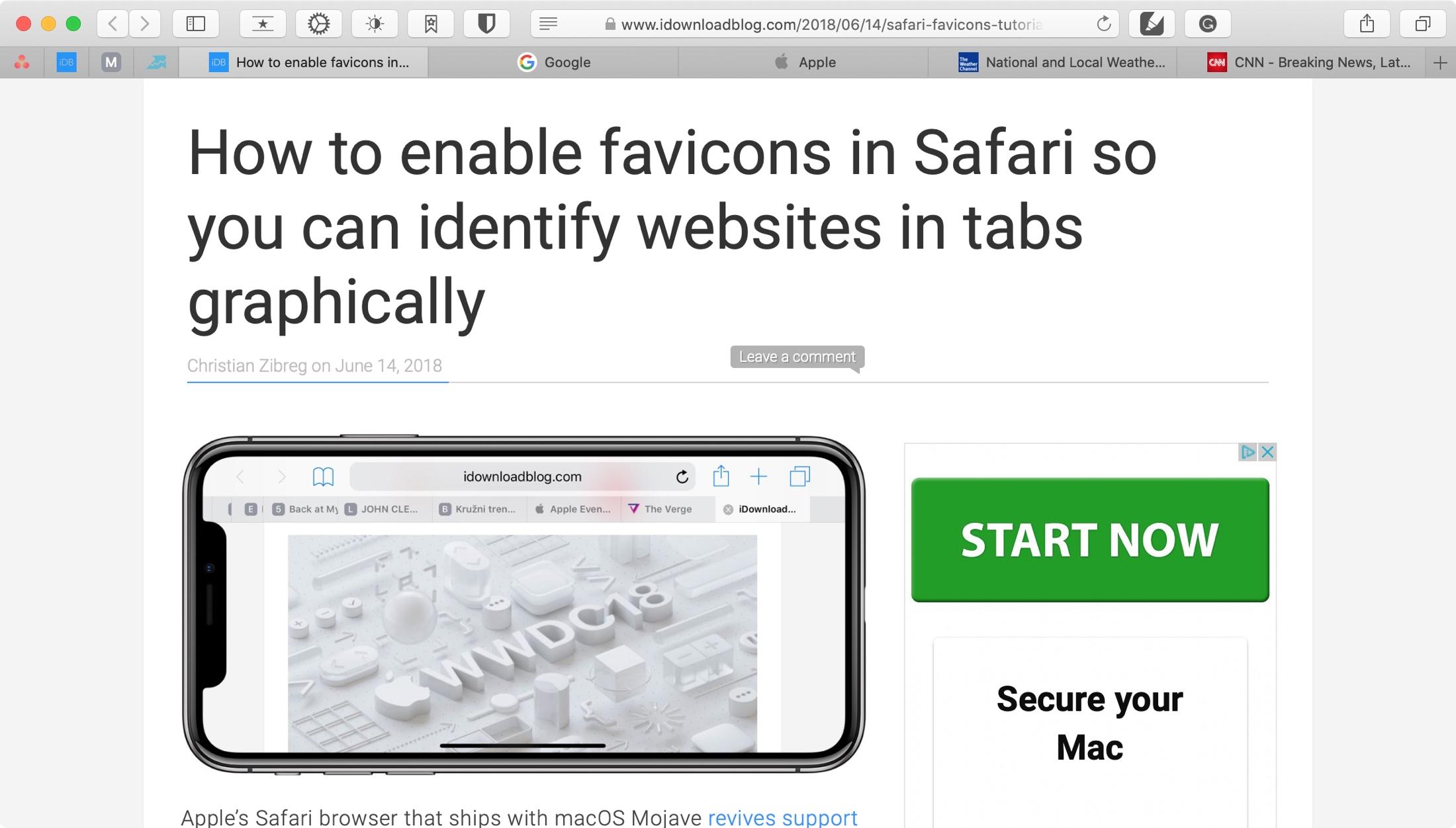 Safari Showing Favicons on Mac