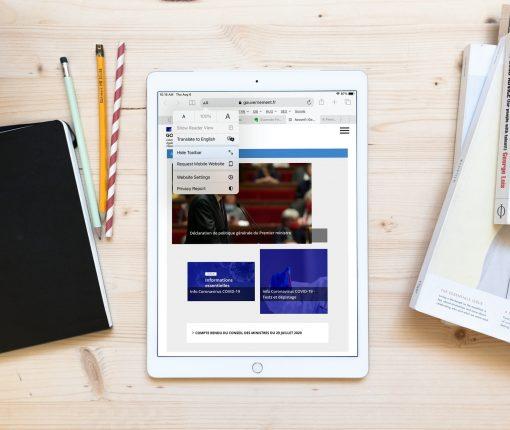 Safari Translate Webpage iPad