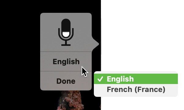 Select Dictation Language on Mac