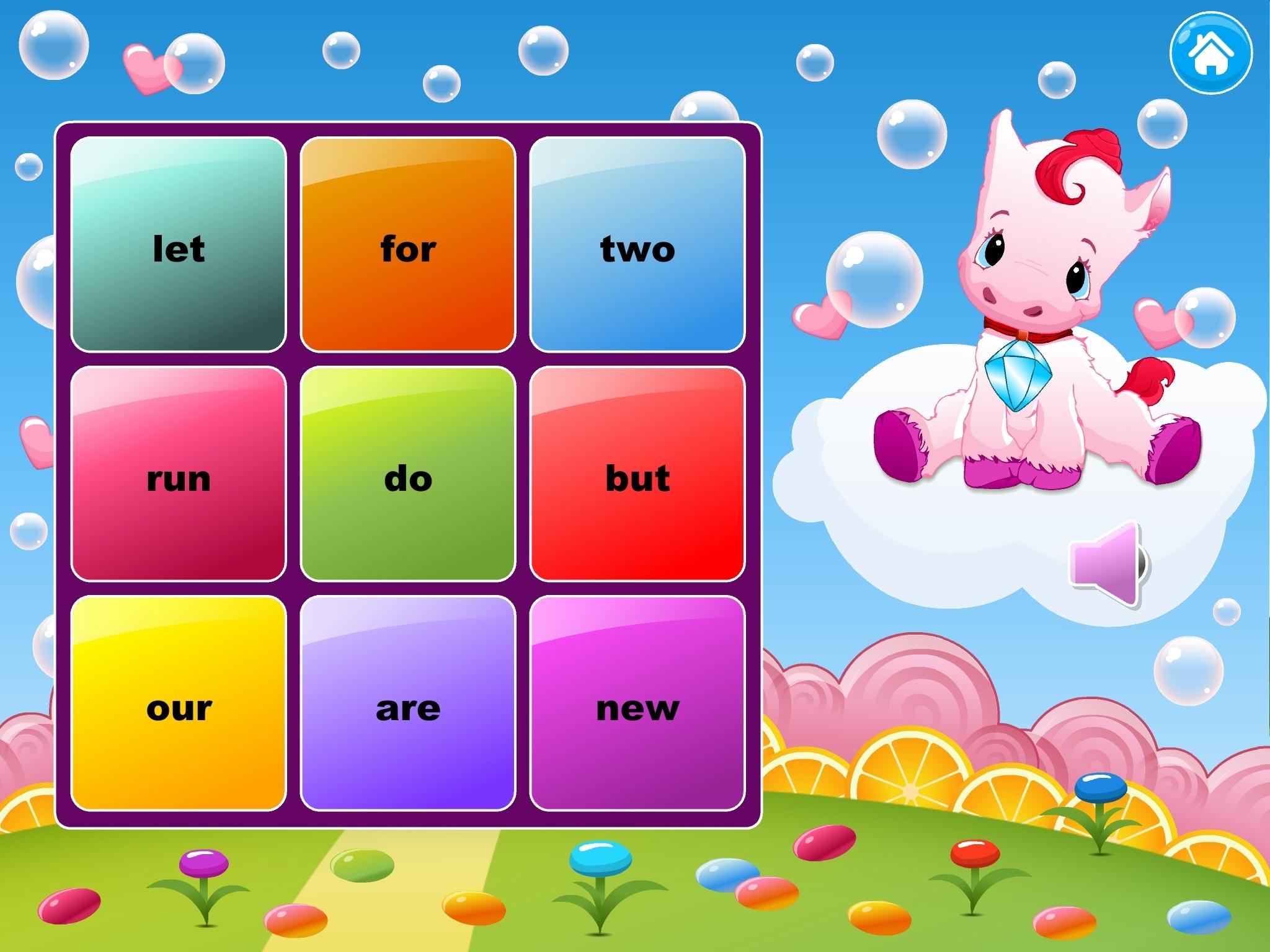 Sight Words and Phonics Reading Bingo iPad