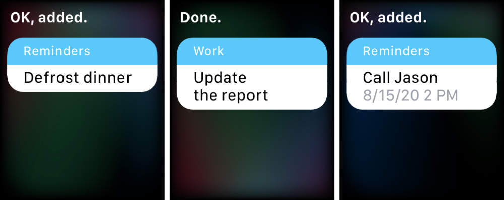 Siri Add Reminders Apple Watch