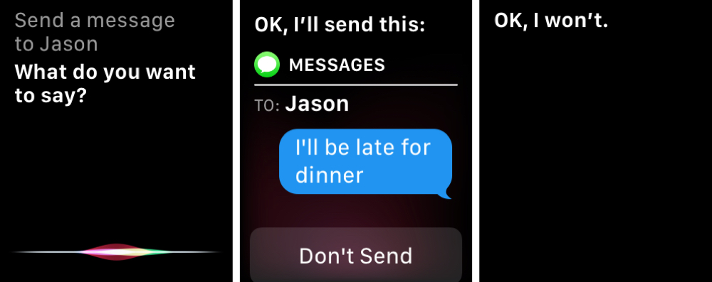 Siri Send Message on Apple Watch