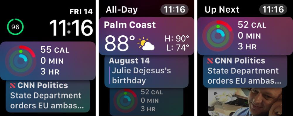 Siri Watch Face on Apple Watch