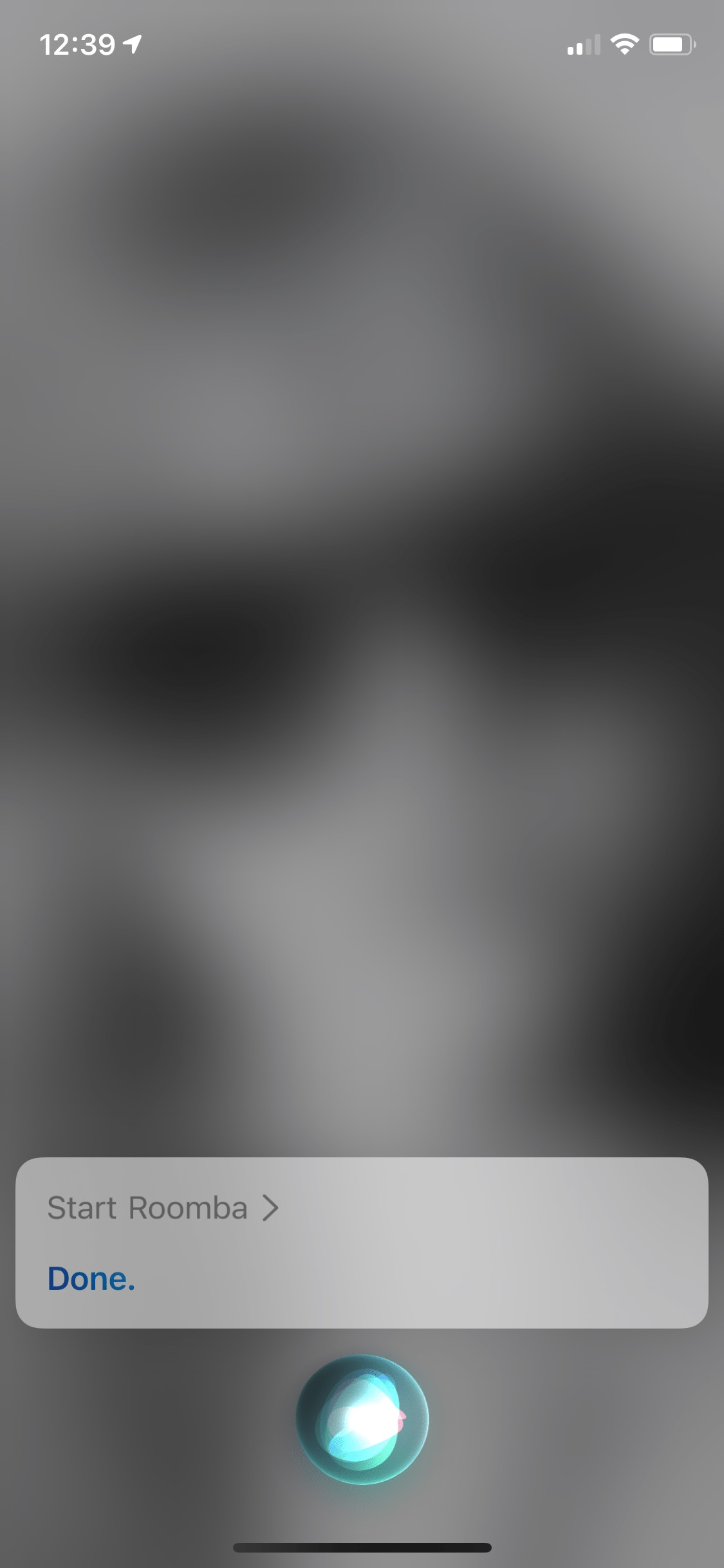 Start Roomba with Siri