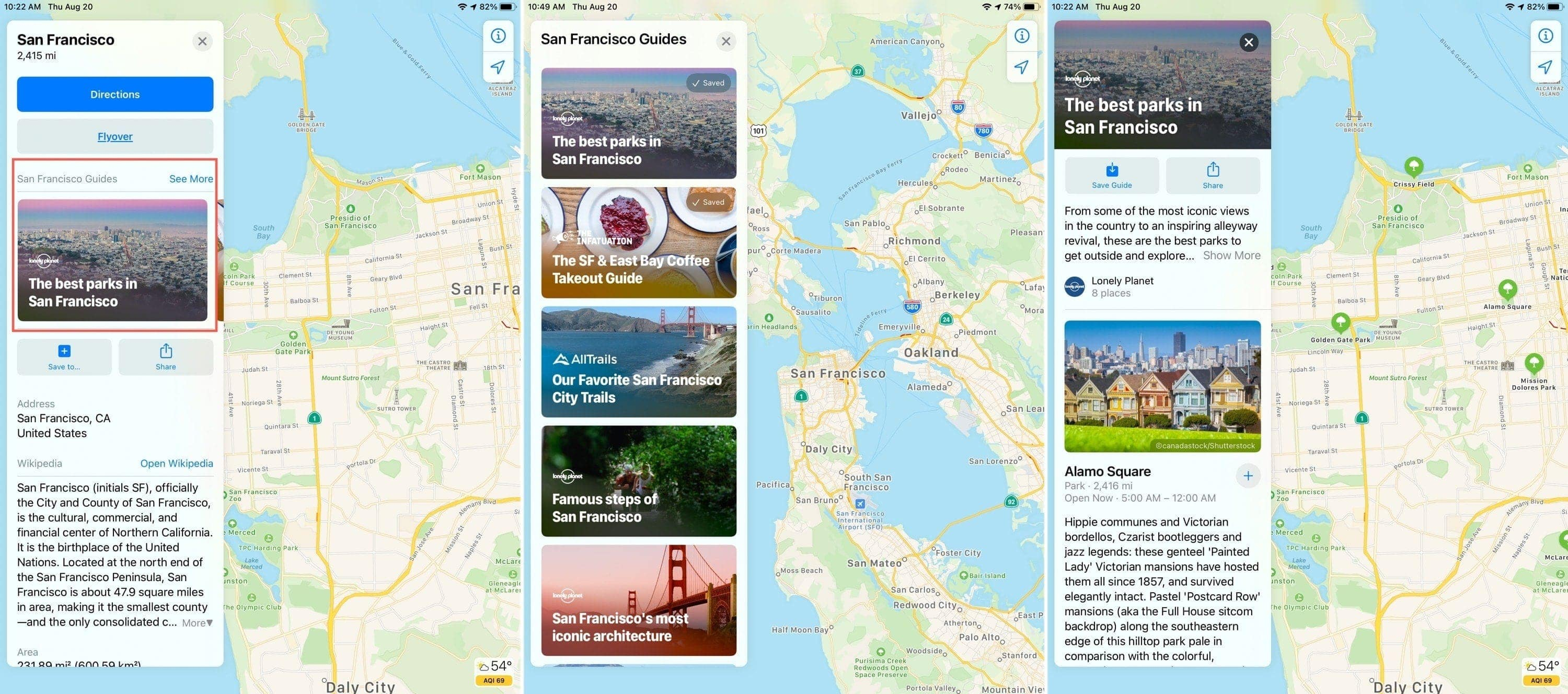 View Curated Guides Maps iPad