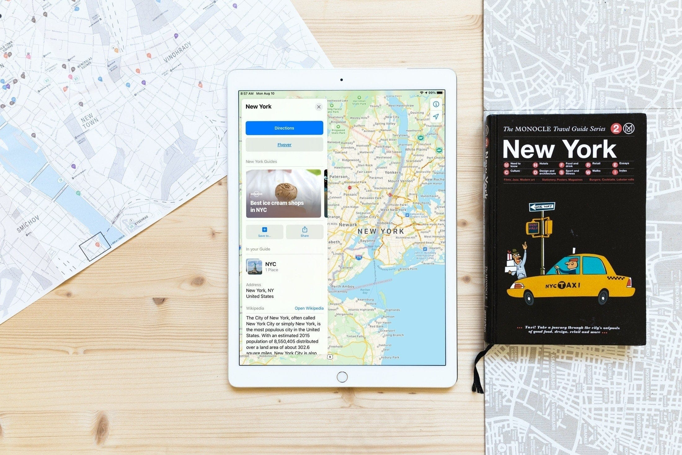 View NYC Curated Guides Maps iPad