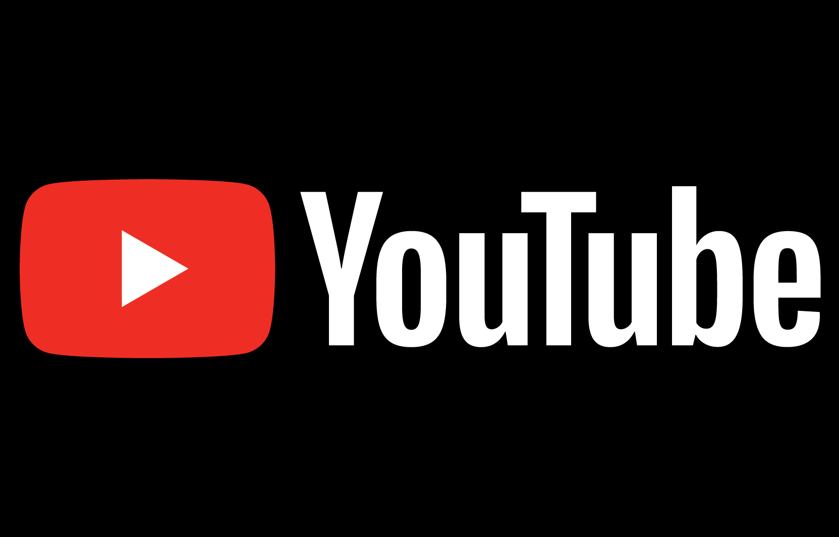 YouTube lettering and logo set against a dark background
