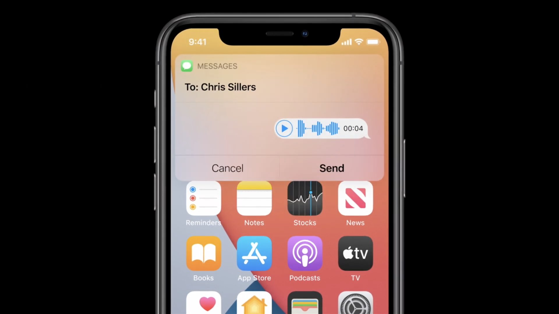 iOS 14 Messages - sending audio messages with Siri on iPhone