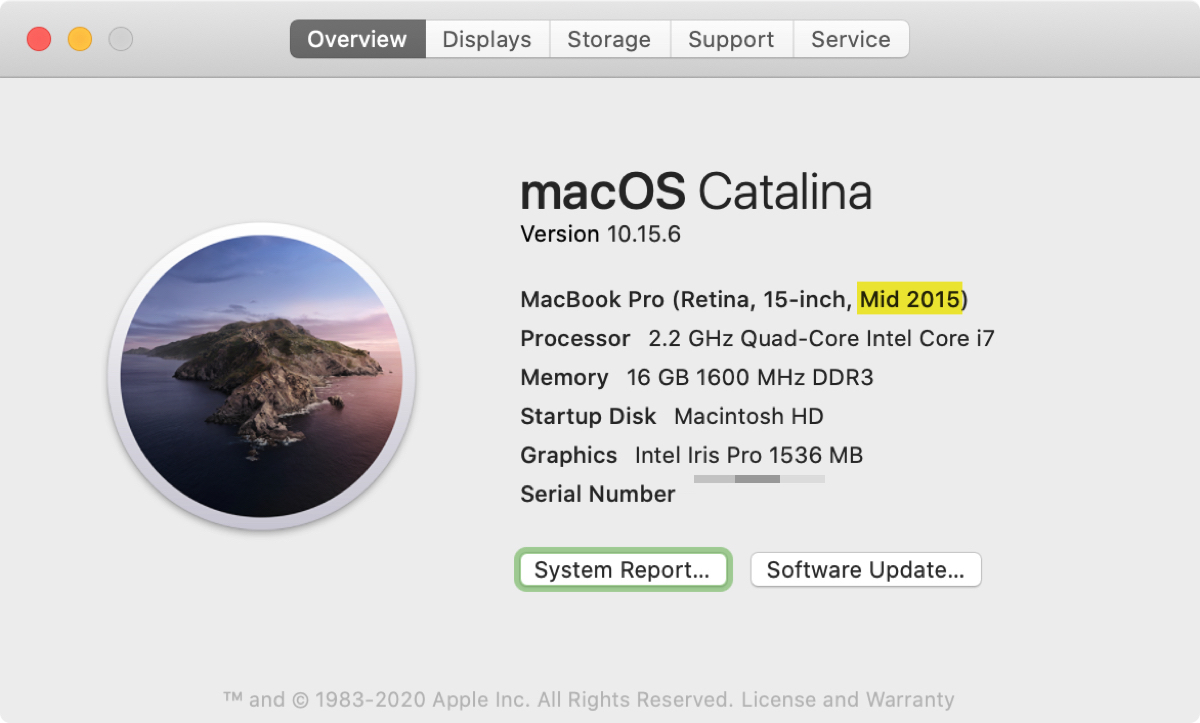 About This Mac Screen Age