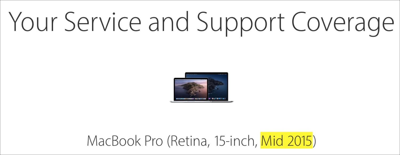 Apple Check Coverage MacBook Pro Age