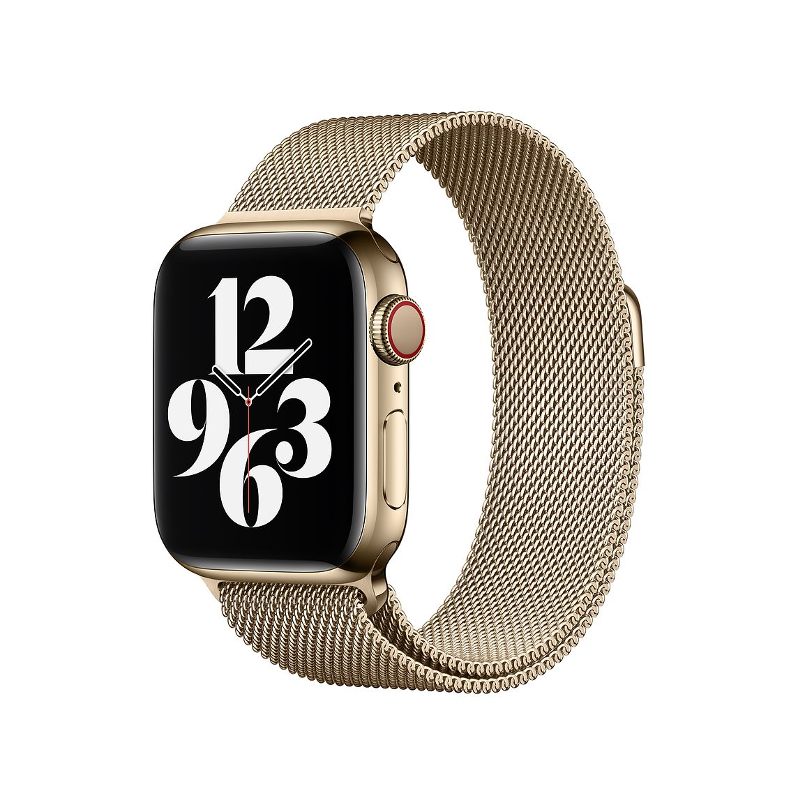 Apple Watch Series 6 with the Milanese Loop strap