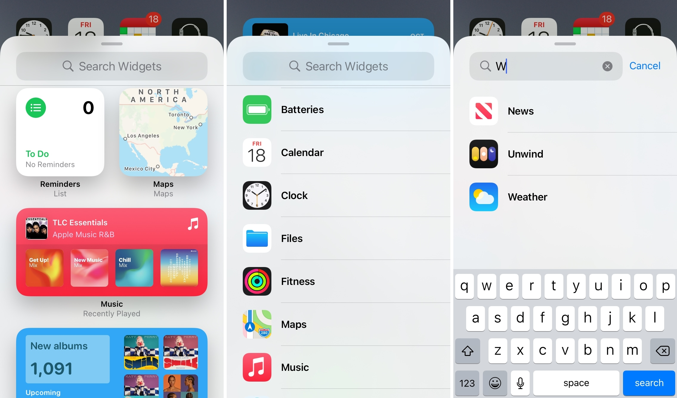 Browse and Search the Widget Gallery on iPhone