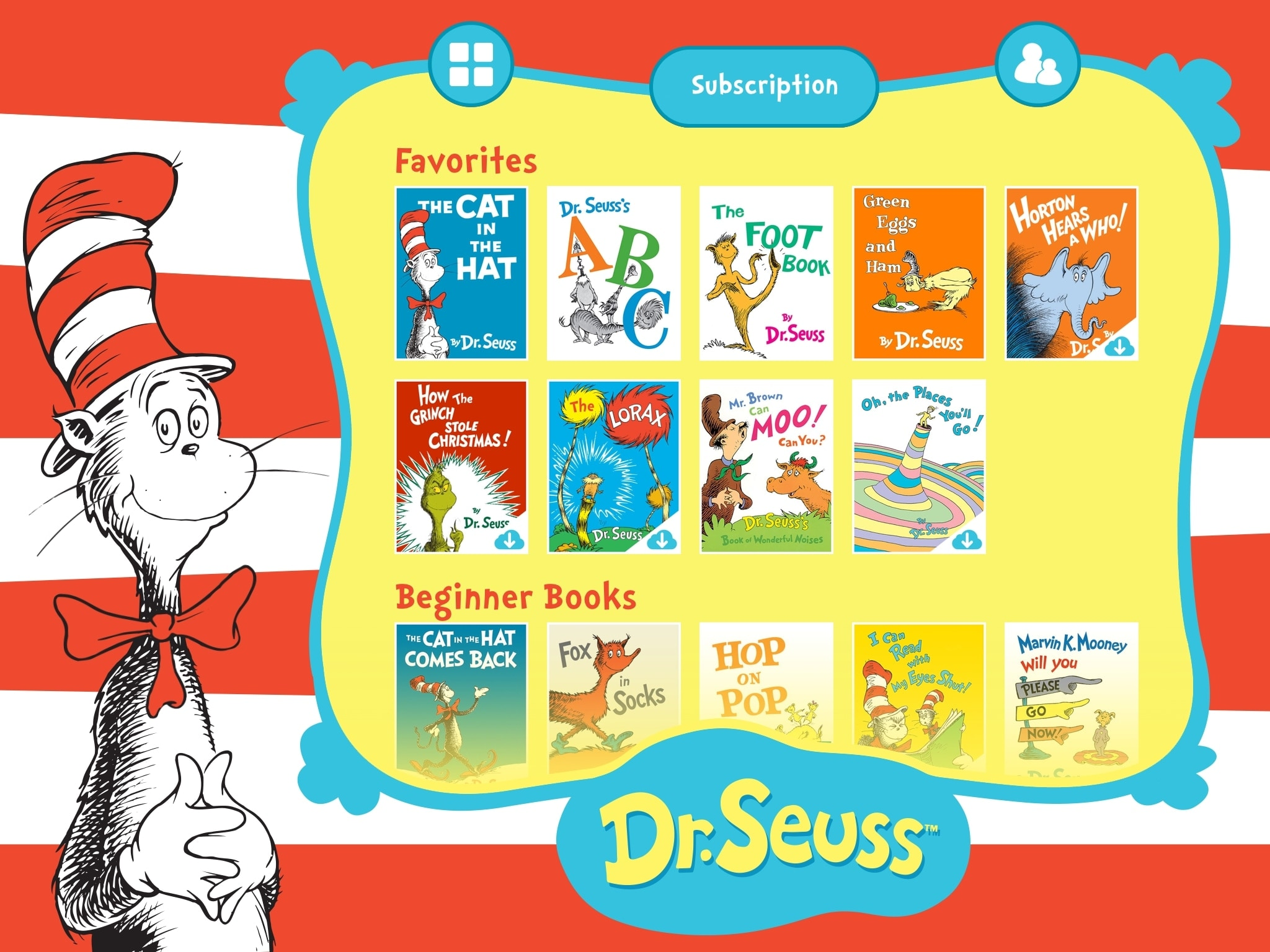 Dr Seuss Treasury Kids Books App iPad
