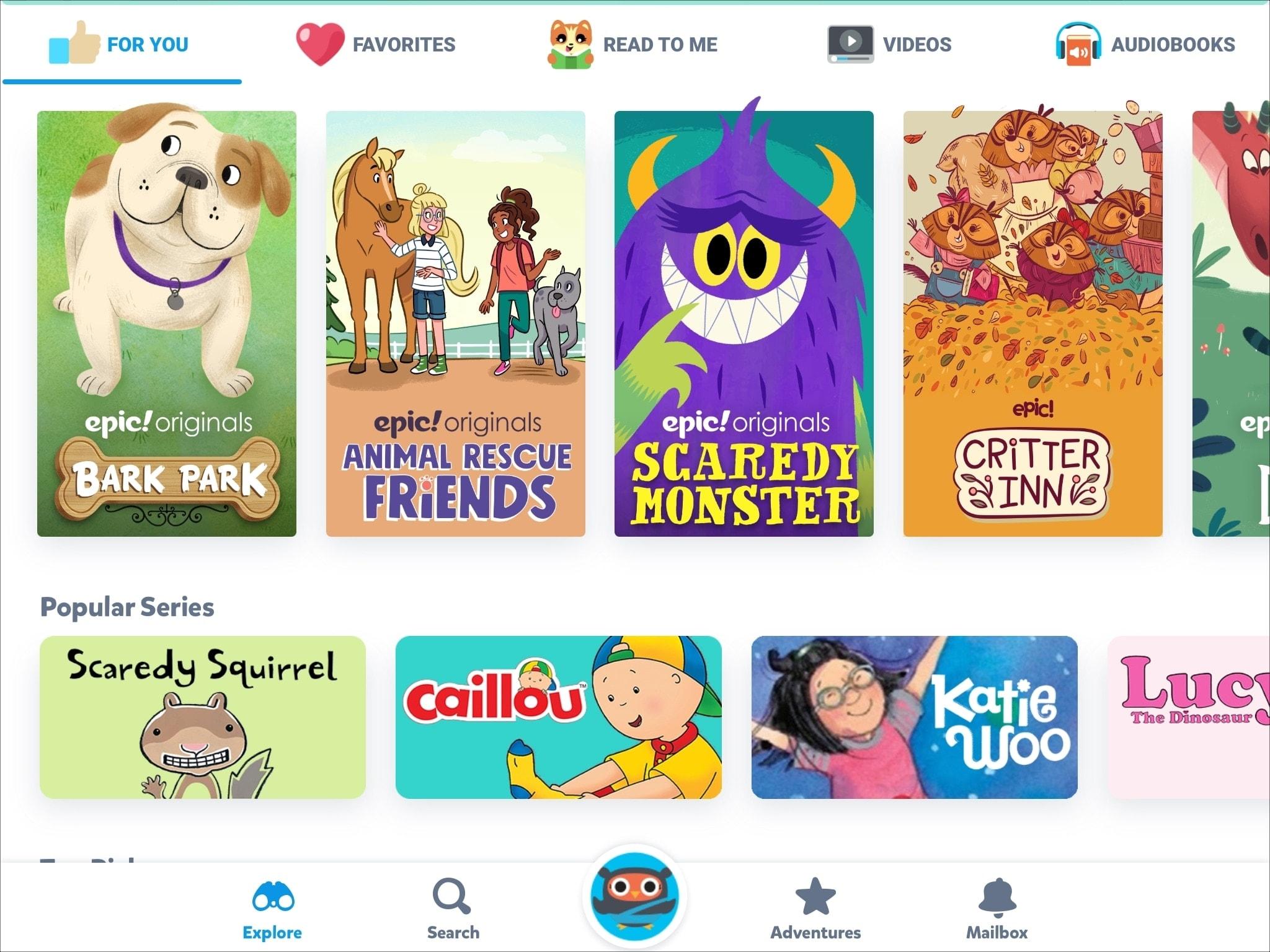 Epic Kids Books App iPad
