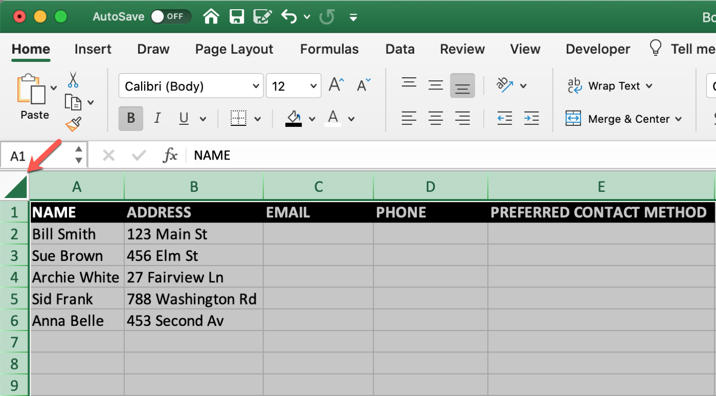 Excel Mac Select Sheet