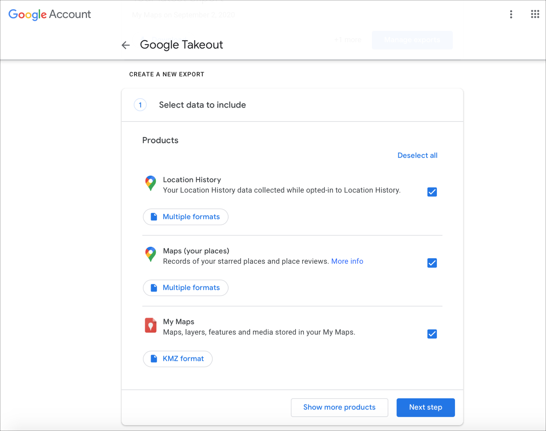 Google Maps Data Takeout Online