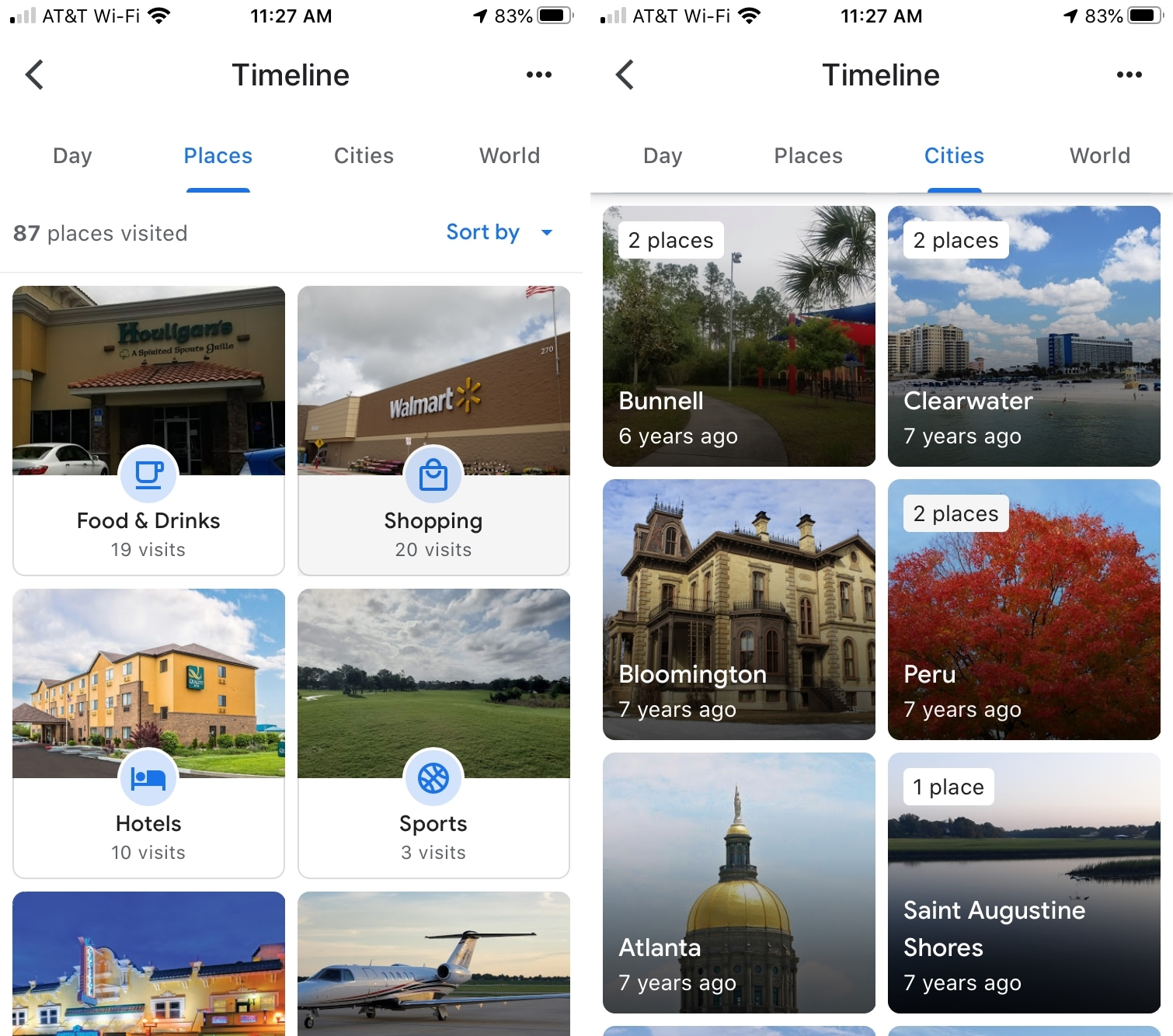 Google Maps Timeline Places iPhone