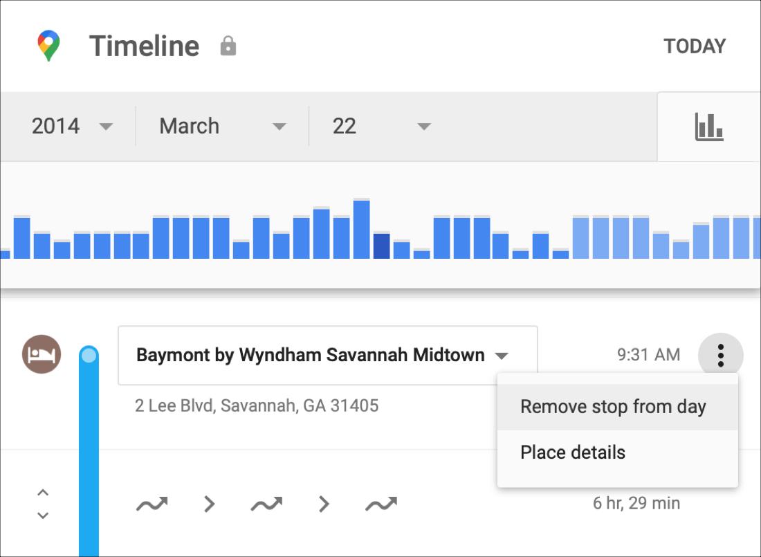 Google Maps Timeline Remove Stop Online