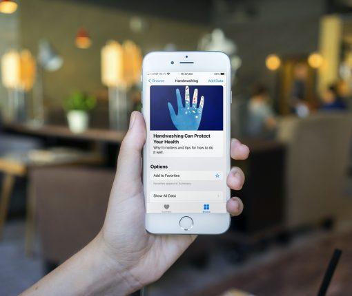 Handwashing Summary in Health on iPhone