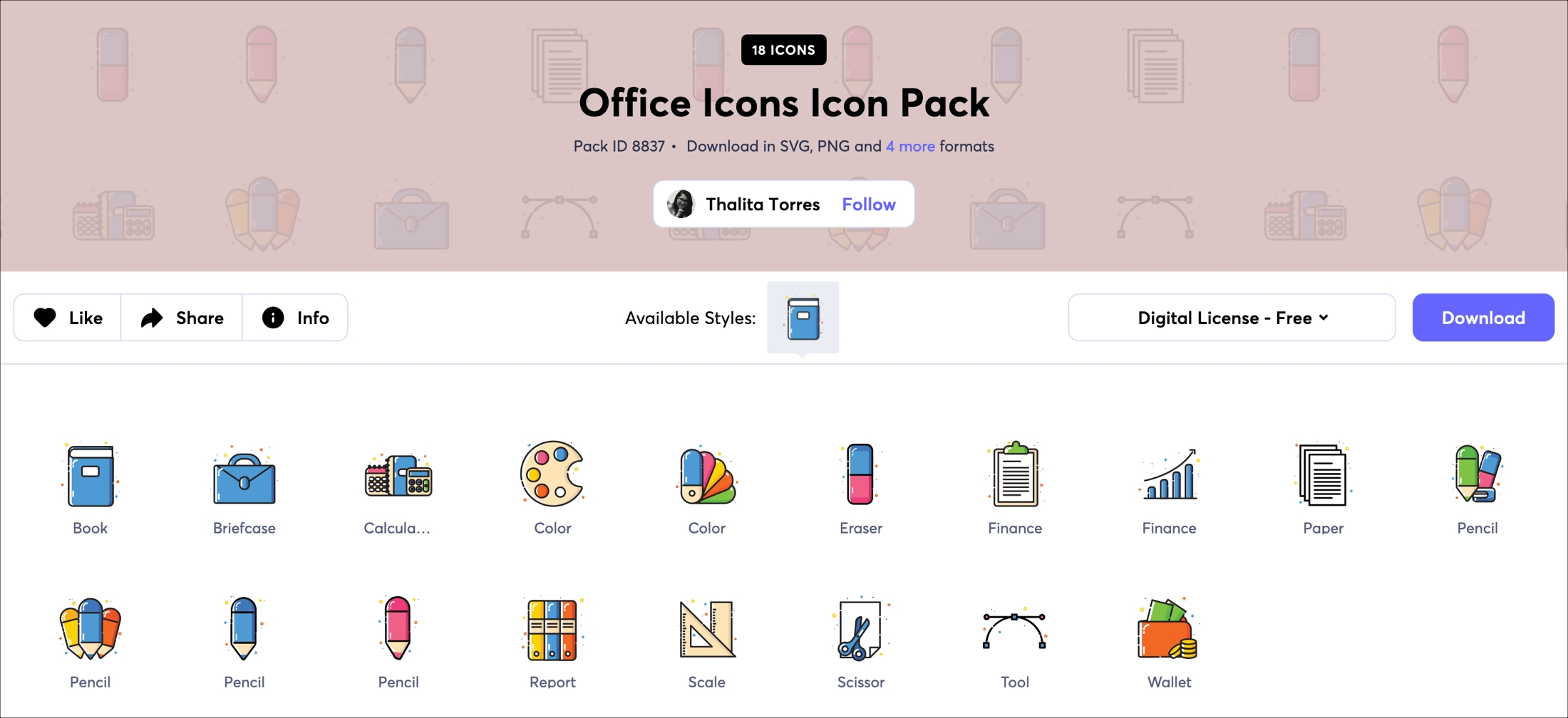 Iconscout office icon pack