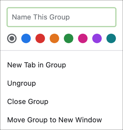 New Tab Group Chrome Mac
