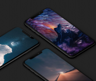 Night sky wallpaper iPhone iDownloadBlog IEDITWALLS mock up
