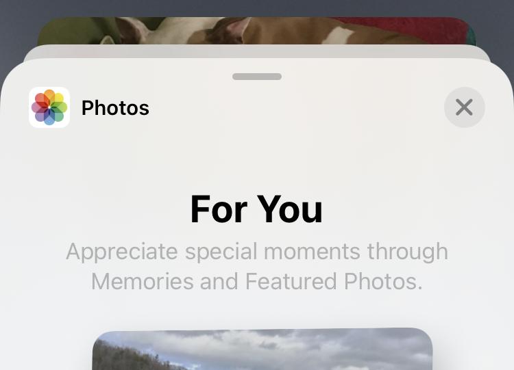 Photos photo widget Memories and Featured Photos on iPhone