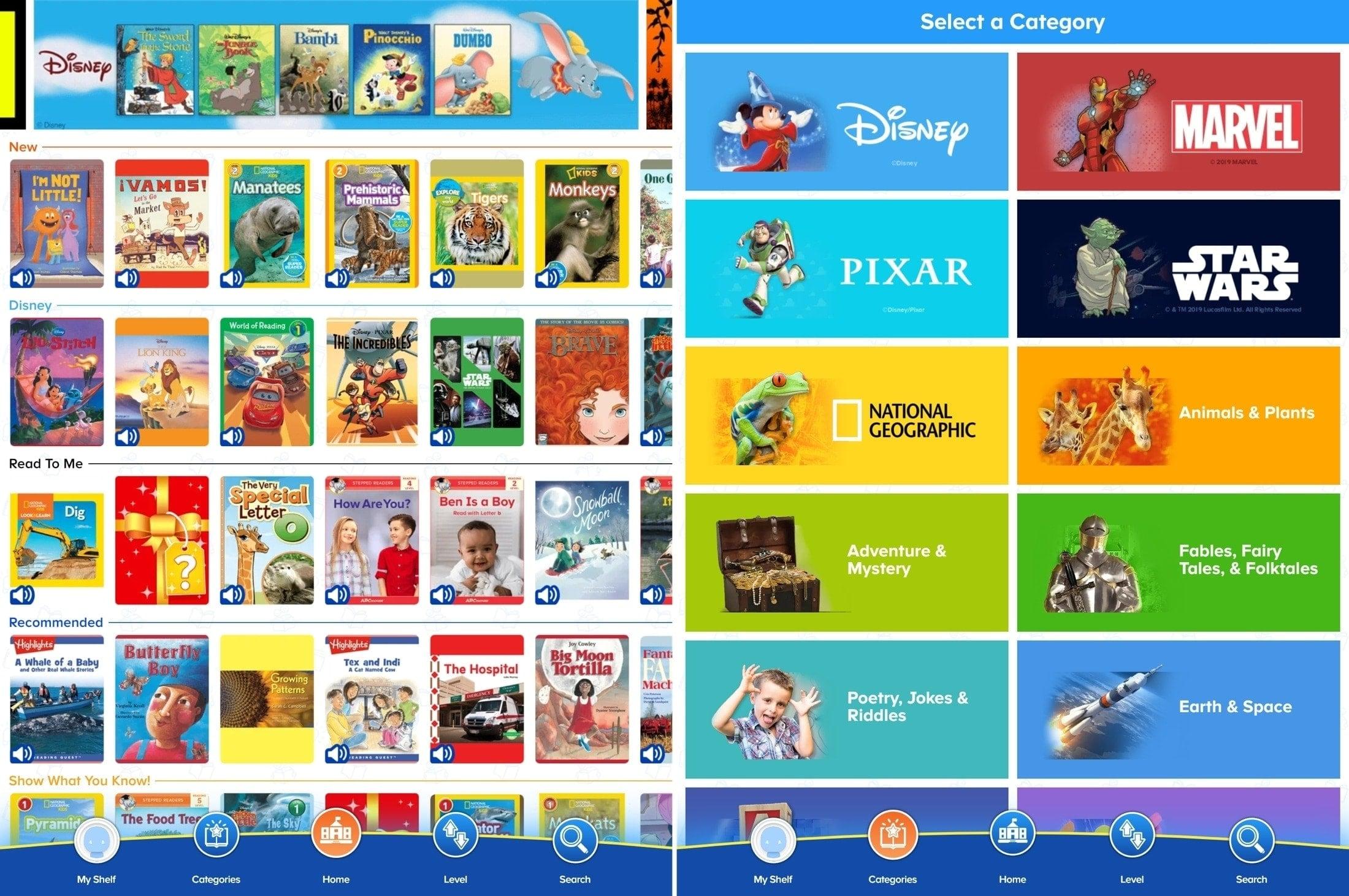 ReadingIQ Kids Books App iPad